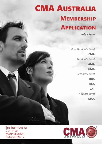 Application Form - CMA - Certified Management Accountants