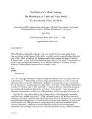 Copyright (c) 2001 Fordham Intellectual Property, Media ...