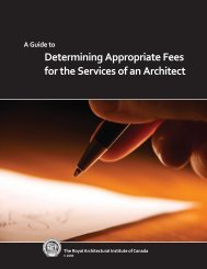 Determining Appropriate Fees for the Services of an Architect