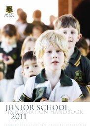 JUNIOR SCHOOL - Wesley College