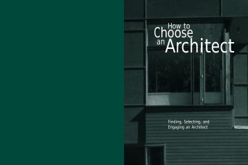 How to Choose an Architect - Manitoba Association of Architects
