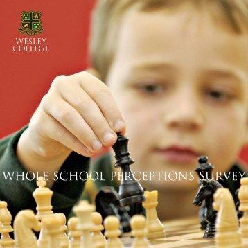 WHOLE SCHOOL PERCEPTIONS SURVEY - Wesley College