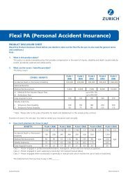 Flexi PA (Personal Accident Insurance) - Zurich