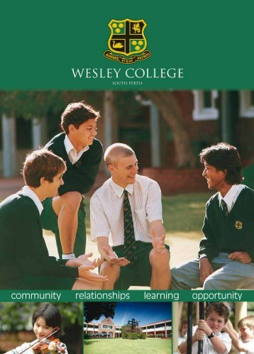 opportunity community learning relationships - Wesley College