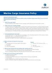 Final_AWZUIN047 - PDS - Burglary Insurance Policy - Zurich