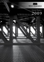 MAA Assurance's Annual Report 2009 - Zurich Insurance