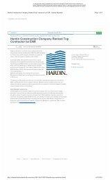 Atlanta Daybook - Hardin Top Contractor in ENR - Hardin Construction