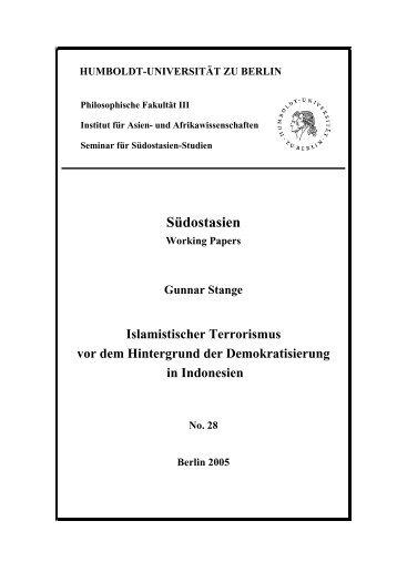 Islamistischer Terrorismus vor dem Hintergrund - Humboldt ...