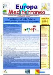 Europa & Mediterraneo n.28 del 12-07-11 - Comune di Alimena