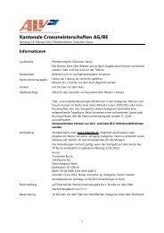 Kantonale Crossmeisterschaften AG/BE 2012 - TV Buchs