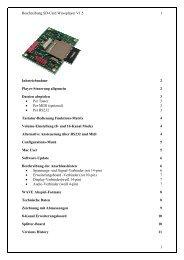 Beschreibung SD-Card Waveplayer V1 - SD-Card Waveplayer-Modul