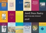 Anvil Press catalogue 2008 - CIX Online