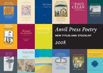 Anvil Press catalogue 2008 - CIX Online