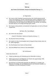 Vereinssatzung - Verein für Handwerk, Handel und Gewerbe Aukrug