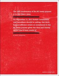 Annual Report 2011 - BC Treaty Commission