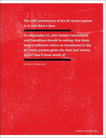 Annual Report 2011 - BC Treaty Commission