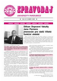 Zpravodaj číslo 22 duben 2000 - Dokumenty - Univerzita Pardubice