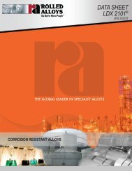 LDX 2101® Data Book - Rolled Alloys