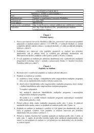 Poplatky za studium - Dokumenty - Univerzita Pardubice