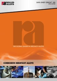CORROSION RESISTANT ALLOYS - Rolled Alloys