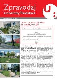 Zpravodaj číslo 59 duben 2009 - Dokumenty - Univerzita Pardubice