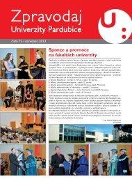 Zpravodaj číslo 72 červenec 2012 - Dokumenty - Univerzita Pardubice