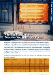 Heat Resistant Alloys: Selection and Failure Avoidance - Rolled Alloys