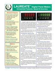 Digital Panel Meter Brochure - Laurel Electronics
