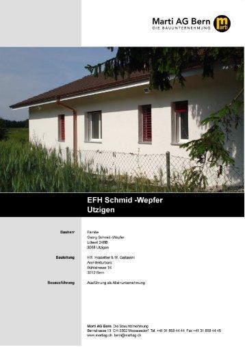 Utzigen_EFH_Schmid_Wepfer.pdf - Marti AG, Bern