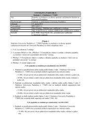 Článek 1 Směrnice Univerzity Pardubice č. 7/2009 ... - Dokumenty
