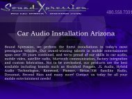 Car Audio Installation Arizona