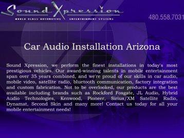 Car Audio Installation Arizona
