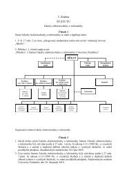 Statut Fakulty elektrotechniky a informatiky - 1. změna 30. 10. 2010