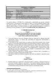I. Základní ustanovení - Dokumenty - Univerzita Pardubice