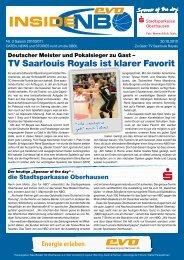 TV Saarlouis Royals ist klarer Favorit - New Basket 92 Oberhausen