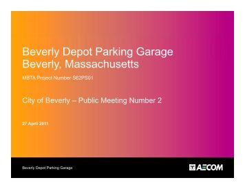 Beverly Depot Parking Garage Beverly ... - City of Beverly