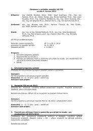 Oznámení o průběhu zasedání AS FES ze dne 4. 6. 2012 - Dokumenty