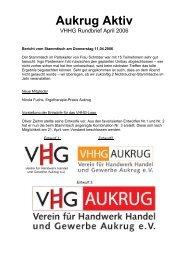 Aukrug Aktiv - Verein für Handwerk, Handel und Gewerbe Aukrug