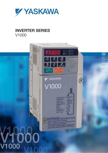 Inverter Drive Series V1000 - BERRIOLA S. Coop. on