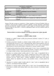 Směrnice č - Dokumenty - Univerzita Pardubice