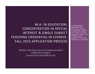 presentation slides - College of Education - San Francisco State ...