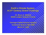 Earth's Climate System: A 21st Century Grand ... - ceres - NASA