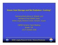 Ocean Heat Storage and Net Radiation: Cooling? - ceres - NASA