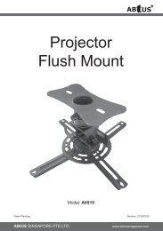 Projector Flush Mount - ABtUS