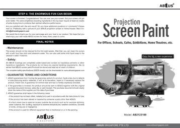 For Offices, Schools, Cafes, Exhibitions, Home Theatres, etc. - ABtUS