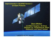 Improvements to Standard CALIPSO Products and ... - ceres - NASA