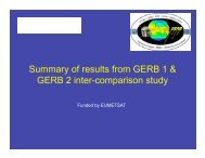 Summary of results from GERB 1 & GERB 2 inter-comparison ... - ceres