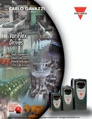 Variable Speed Drives - Carlo Gavazzi