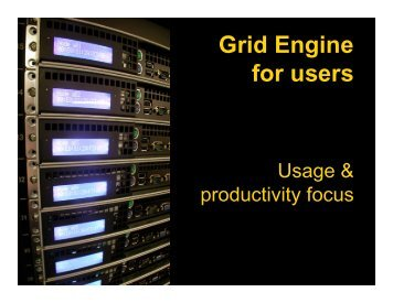 Grid Engine for users - ceres