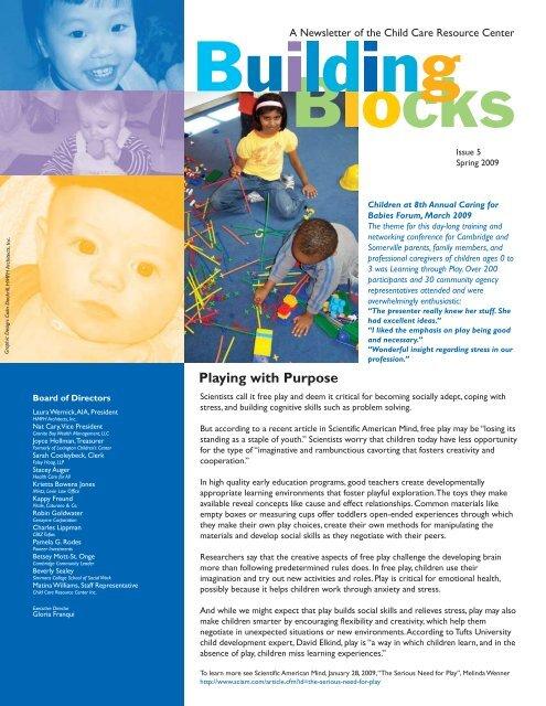CCRC Spring 09 Newsletter pdf - Child Care Resource Center